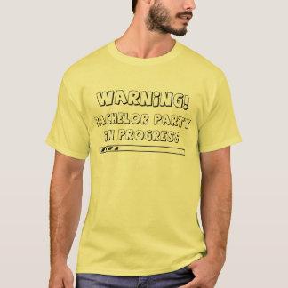 Avertissement ! Enterrement de vie de jeune garçon T-shirt