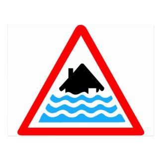 Avertissement grave d'inondation carte postale