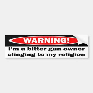 Avertissement !  Je suis un propriétaire d'arme à  Autocollant Pour Voiture
