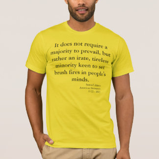 Avertissement patriotique par Samuel Adams T-shirt