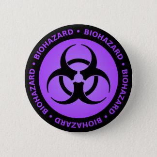 Avertissement pourpre de Biohazard Badges