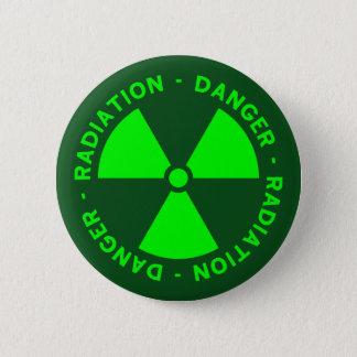 Avertissement vert de rayonnement badges