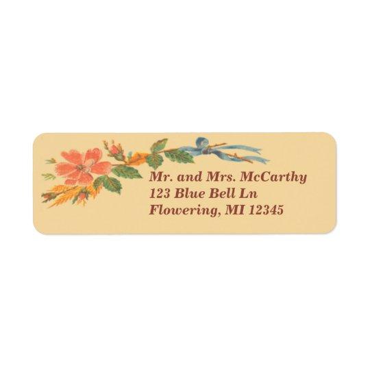 Avery floral victorien vintage étiquettes d'adresse retour