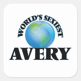 Avery le plus sexy du monde sticker carré