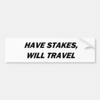 Avez des intérêts, voyagerez adhésif pour voiture