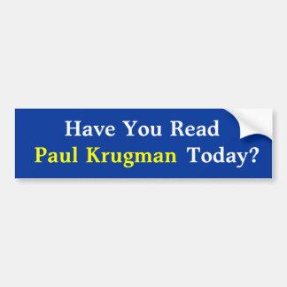 Avez-vous lu Paul KrugmanToday ? Adhésif pour Autocollant De Voiture