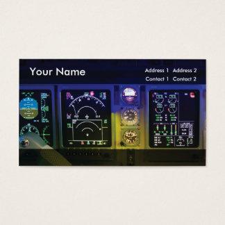 aviation de modèle de carte de visite