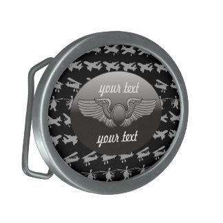 Aviation personnalisée boucle de ceinture ovale