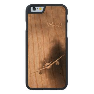 Avion à réaction dans l'iPhone en bois de pilote Coque Mince En Cerisier iPhone 6