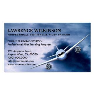 Avion commercial dans des cartes de visite carte de visite standard