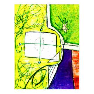 Avion conceptuel carte postale