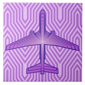 Avion d'art déco, pourpre violet et lavande carreau