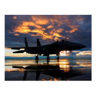 Avion d'avion de chasse aux cadeaux de militaires cartes postales