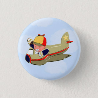 Avion de baby shower badges