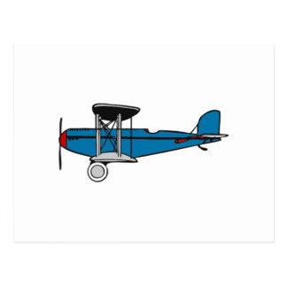 Avion de biplan carte postale