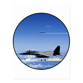 Avion de chasse carte postale