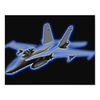 Avion de chasse de bleu du frelon F/A-18 Carton D'invitation 10,79 Cm X 13,97 Cm