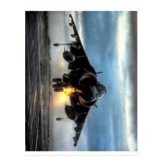 Avion de chasse de harrier carte postale