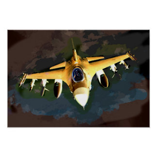 Avion de chasse fantomatique dans le ciel posters