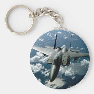 Avion de chasse porte-clé rond