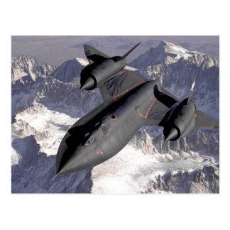 Avion de chasse supersonique carte postale