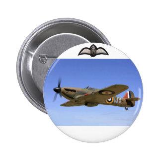 Avion de combat d'ouragan de 2ÈME GUERRE MONDIALE Badge