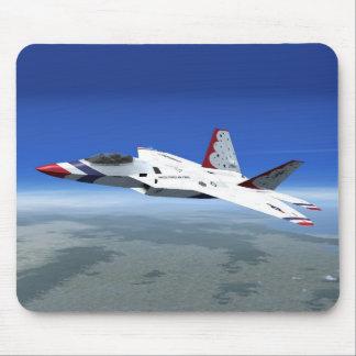 Avion de combat Mousepad de jet d'anges bleus de Tapis De Souris