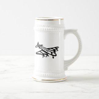 Avion de ligne vintage mug à café