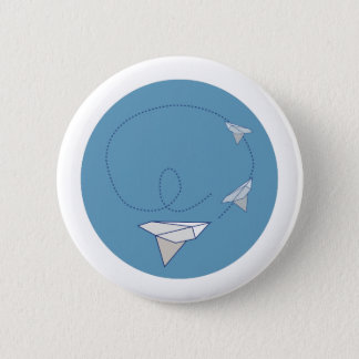 Avion de papier badge