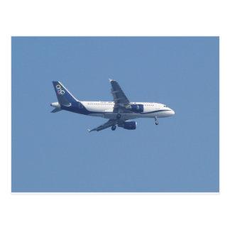 Avion de passagers grec carte postale
