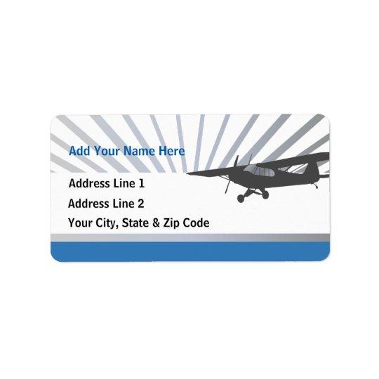 Avion de Taildragger Étiquettes D'adresse