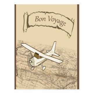 Avion de voyage de fève cartes postales