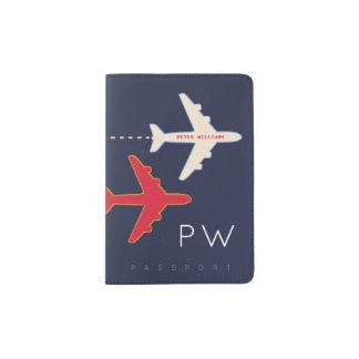 avion et nom, couverture américaine de passeport à protège-passeport
