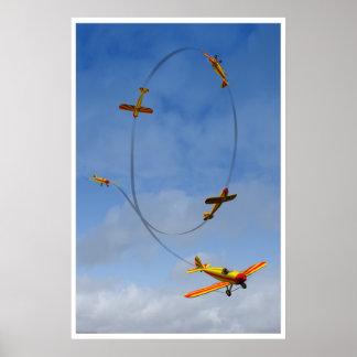 Avion faisant une affiche acrobatique aérienne de posters