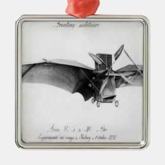 Avion III, 'le Bat Ornement Carré Argenté