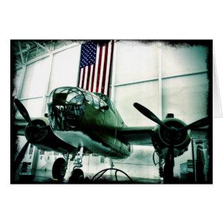 Avion militaire patriotique de 2ÈME GUERRE Cartes De Vœux