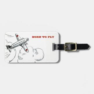 Avion personnalisé de voyage soutenu pour voler étiquette à bagage