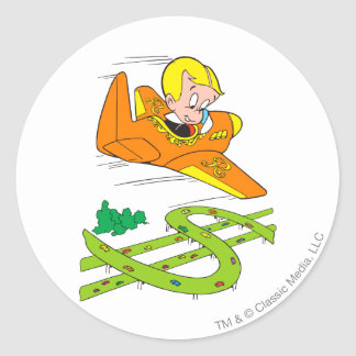 Avion riche de vol de Richie - couleur Sticker Rond