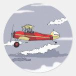 avion sticker rond