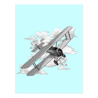 Avion vintage carte postale