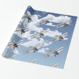Avion vintage papier cadeau
