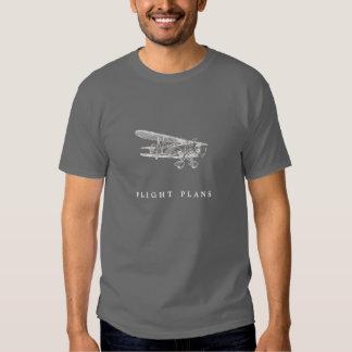 Avion vintage, plans de vol t-shirt