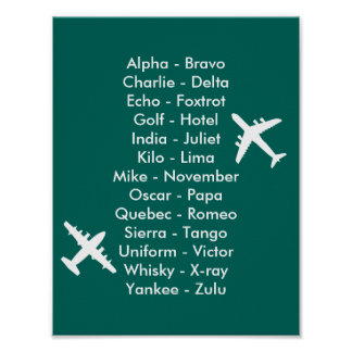 Avions d'alphabet de trafic aérien de pilote de posters