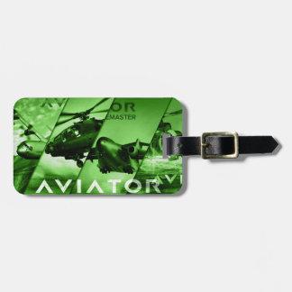 Avions d'aviateur étiquettes bagages