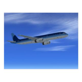 Avions d'avion de ligne du jet A321 Carte Postale