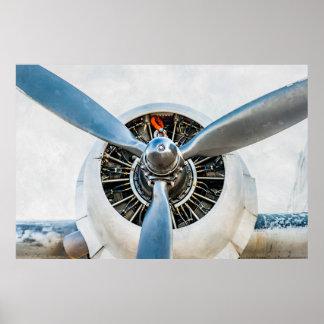 Avions de Douglas DC-3. Propulseur Posters