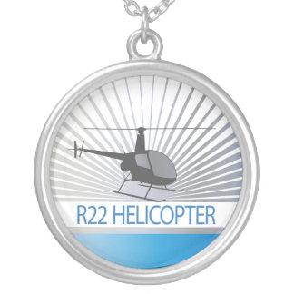 Avions d'hélicoptère pendentif rond