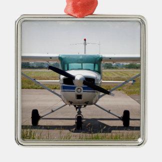 Avions légers de Cessna Ornement Carré Argenté