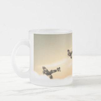 Avions vintages mug en verre givré
