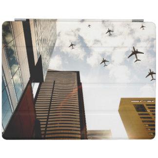 Avions volant au-dessus des bâtiments protection iPad